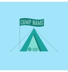 Tourist tent sign icon Camping logo vector image