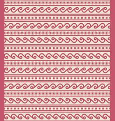Tribal seamless border pattern vector