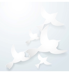 Two origami birds on a white background vector image
