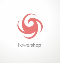 Unique flower logo design template for flower shop vector image