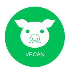 Vegan free label food intolerance symbols vector