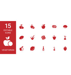 vegetarian icons vector image