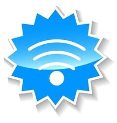 Wifi blue icon vector