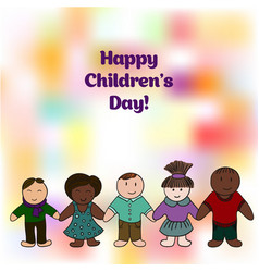 World childrens day picture for your design card vector