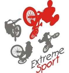 Extreme sport BMX rider - vector image