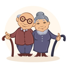 grandparents vector image