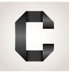 Letter metal ribbon - C vector image vector image