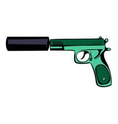pistol icon cartoon vector image vector image