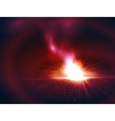 Red color abstract design with a fire vector image