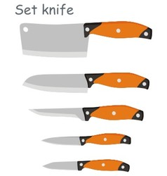 set knife vector image vector image