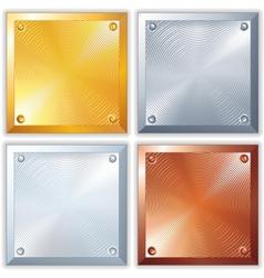 Shiny Metal Signs vector image