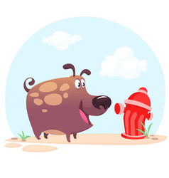 cartoon bulldog or boxer dog vector image
