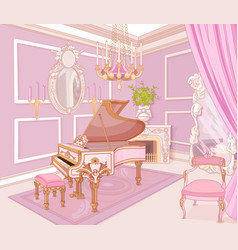 princess music room vector image vector image
