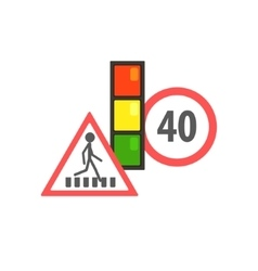 Traffic Code Limiting Signs vector image