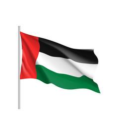 waving flag of united arab emirates vector image