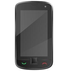 Black mobile phone eps10 vector image