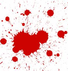 blood drops vector image