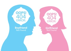 boyfriend and girlfriend not found vector image