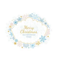circle snowflake frame christmas framework vector image vector image