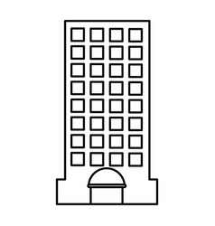 city building edifice vector image
