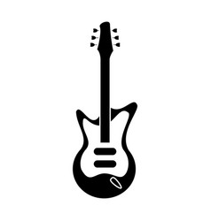 electric guitar musical instrument pictogram vector image