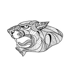 Panther head zentagle vector