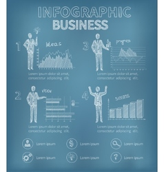 Sketch Business Infographics vector image vector image