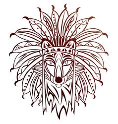 tribal fox vector image vector image