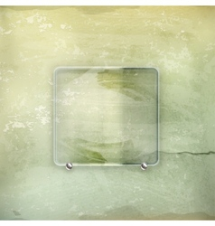 Banner glass old-style vector image vector image