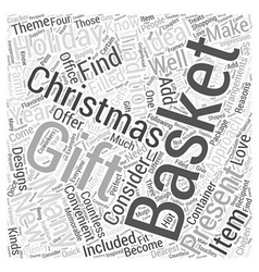 christmas gift baskets Word Cloud Concept vector image