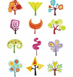 funky trees vector image
