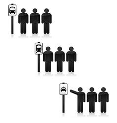 Transit stop vector image