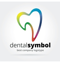 Abstract dantist tooth logotype isolated on white vector image