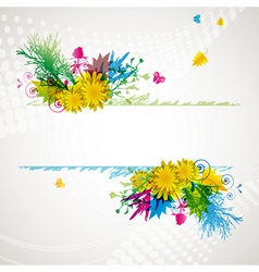 Abstract flora background 2 vector