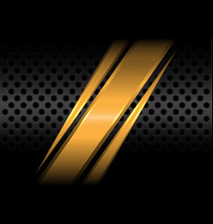 abstract gold slash on black circle mesh vector image