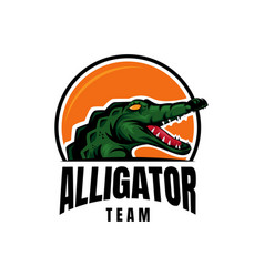 Alligator crocodile emblem logo vector