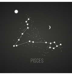 Astrology sign Pisces on chalkboard background vector