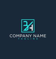 Ba ab initial logo luxury design inspiration vector