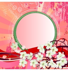 Background with blossoming branch of tree vector image