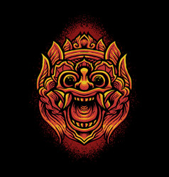 barong mask devil vector image