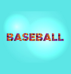 baseball concept colorful word art vector image