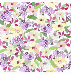 Beautiful botanical tropical flower seamless vector