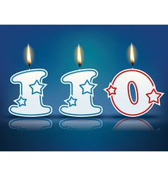 Birthday candle number 110 vector