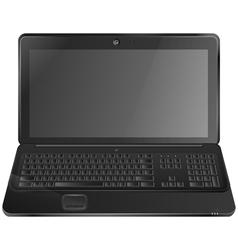 Black laptop eps10 vector image