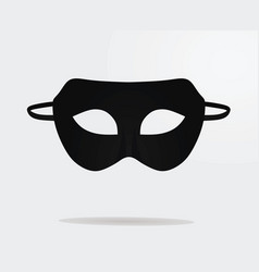 Black theater mask vector