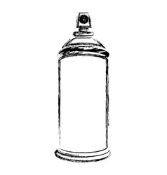 Blurred silhouette aerosol spray bottle can icon vector