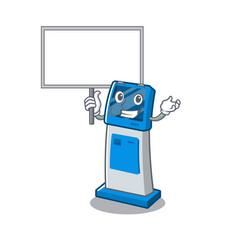Bring board digital information cartoon kiosk vector