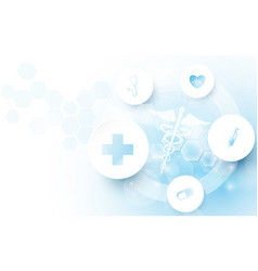 caduceus medical medicine and science concept vector image