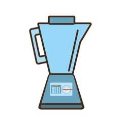 cartoon blender kitchen appliance vector image