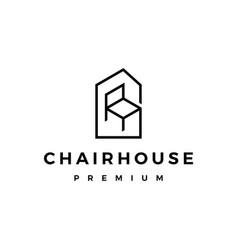Chair house logo icon vector